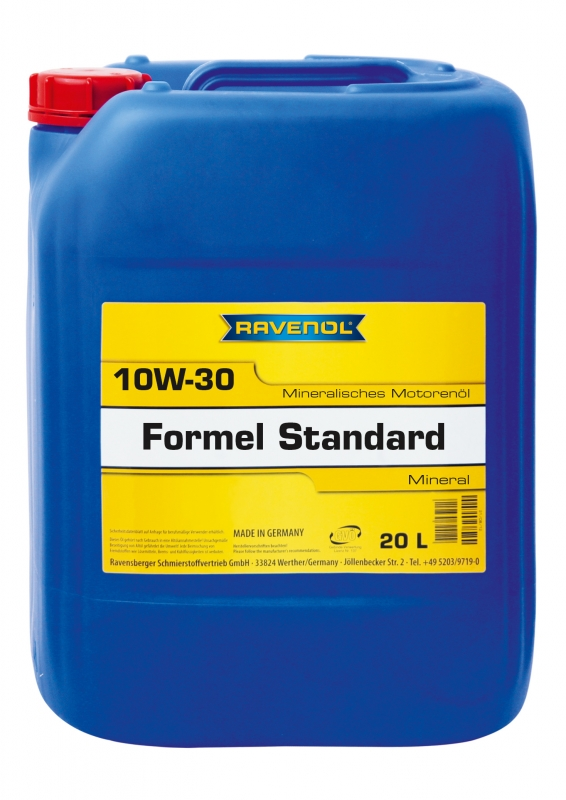 Моторное масло RAVENOL Formel Standard, 10W-30, 20л, 4014835724624