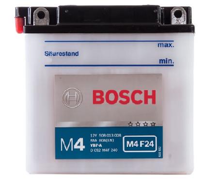 Аккумуляторная батарея Bosch Funstart FreshPack, 12 В, 8 А/ч, 80 А, 0092M4F240