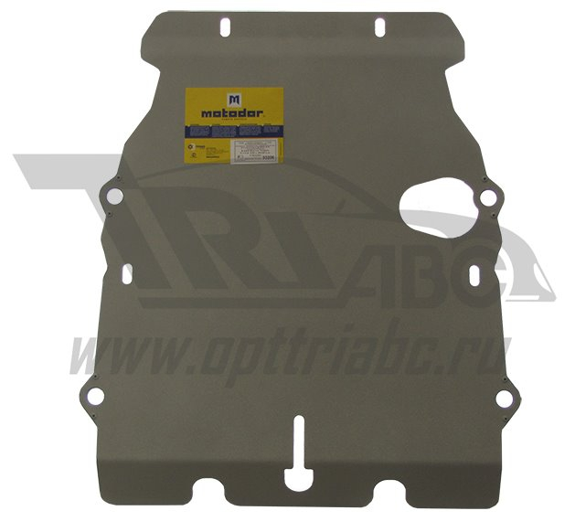 Защита картера двигателя, КПП, РК, радиатора Land Rover Discovery IV 2009- V=5,0 LR-V8, 4 части (алю