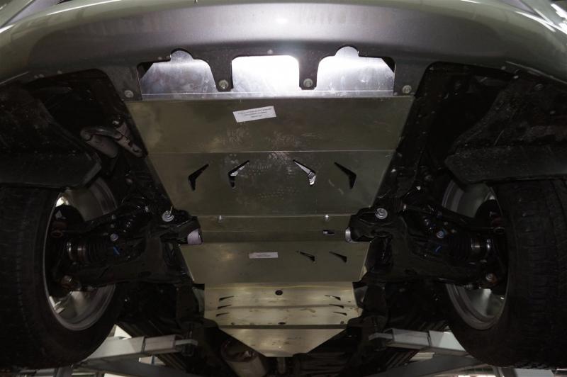 Защита днища Nissan Patrol V-5.6 (2010-) + КПП 3 ч. (Алюминий 4 мм), 1520ABC