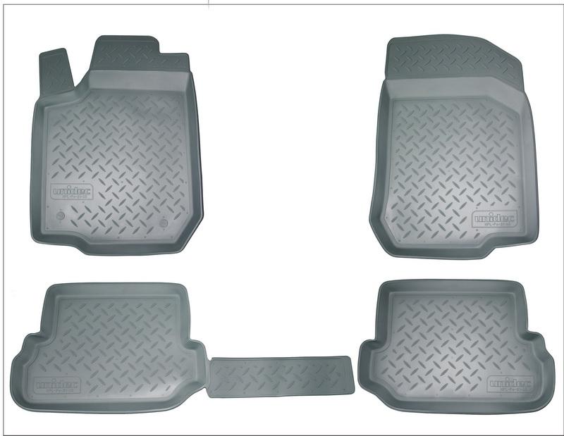 Коврики салона для Nissan Almera (Ниссан Альмера) (RU(G11) (2013-) (серые) (перемычка), NPA11C61020G