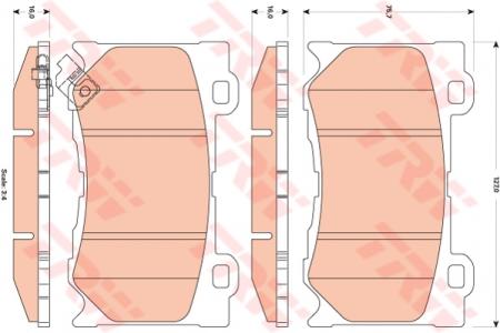 Колодки дисковые Передние, TRW, GDB3505