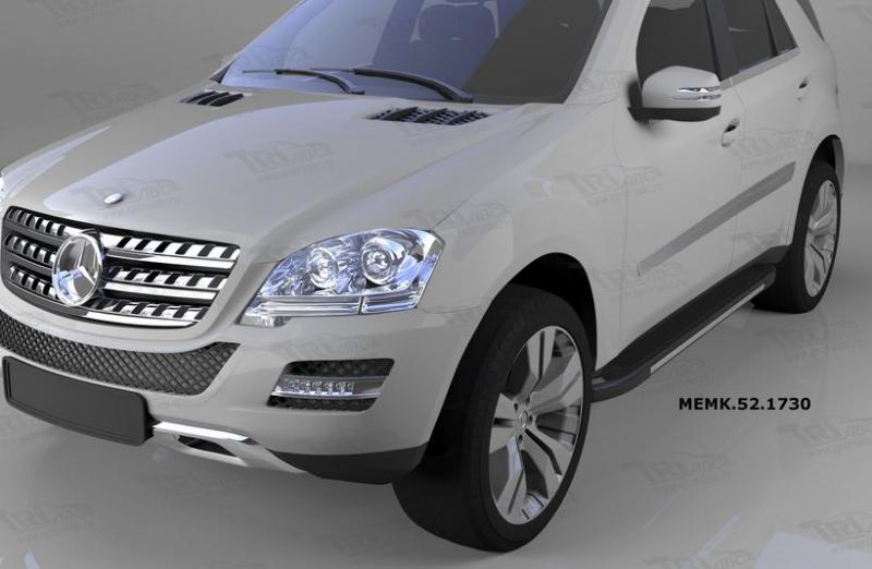 Пороги алюминиевые (Onyx) Mercedes ML W164 (2006-2011), MEMK521730