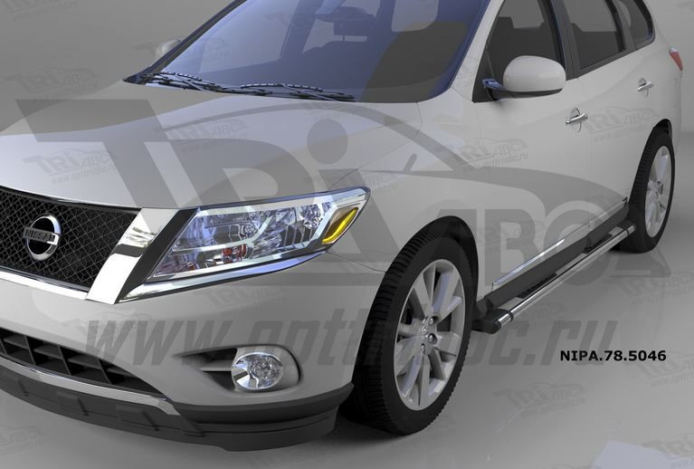 Пороги алюминиевые (Emerald silver ) Nissan Pathfinder (2014-), NIPA785046