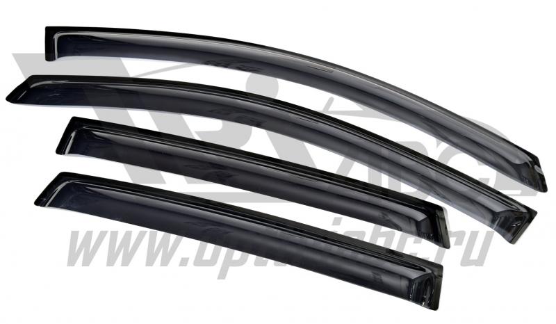 Дефлекторы боковых окон Honda (Хонда) CR-V (2012-) (темный) (4 части), SHOCRV1232