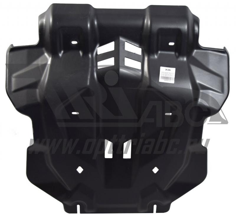 Защита картера двигателя и радиатора Toyota Hilux, V-все, КПП- все,4X4, (2015-)(Композит 10 мм), 243