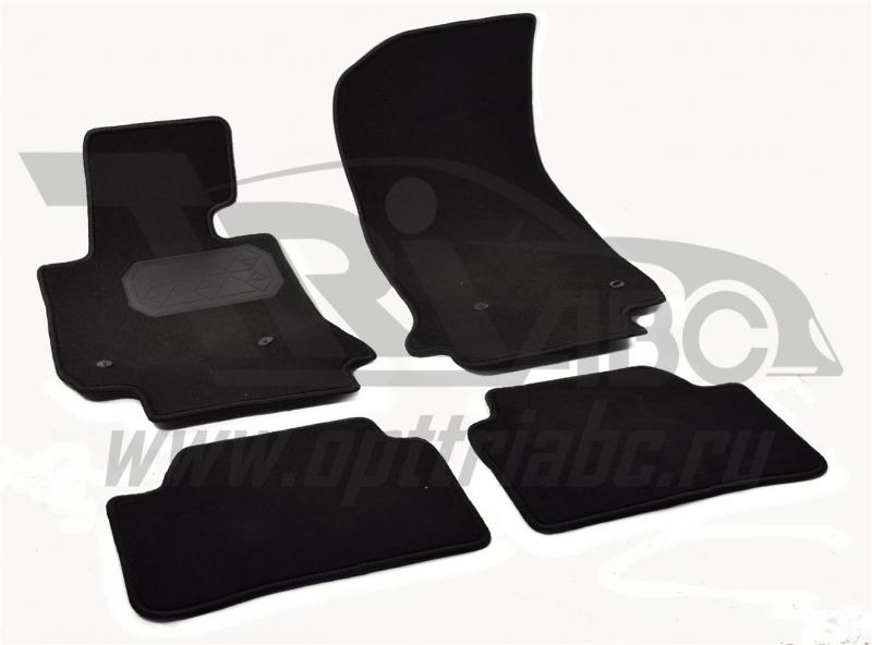 Коврики салона текстильный BMW 1 F20 (2011-) (5 дв.) (Велюр, полиамид)(подпятник п/у)(черные), NPA00