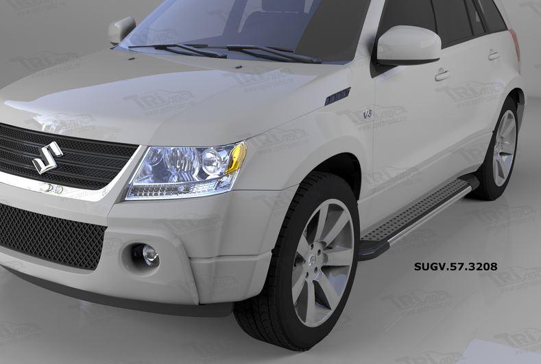 Пороги алюминиевые (Topaz) Suzuki Grand Vitara (2006-2010-), SUGV573208