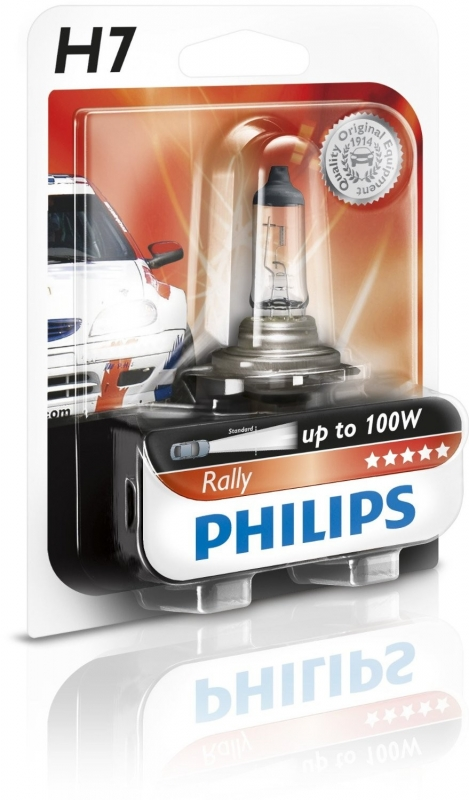 "Лампа ""Rally For race only"", 12 В, 80 Вт, H7, PX26d, PHILIPS, 12035RAB1"
