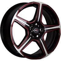 Колесный диск Yokatta MODEL-4 8x18/5x120 D60.1 ET30 матовый черный полированный+красный (MBF+R)