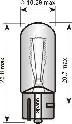 Лампа, 12 В, 4 Вт, T4W, BA9s, HELLA, 8GP 002 067-831