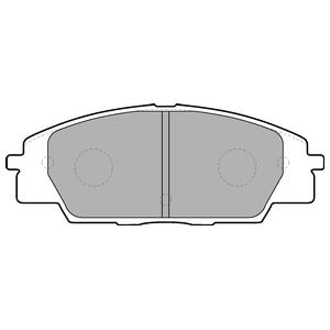 Колодки дисковые, DELPHI, LP1559