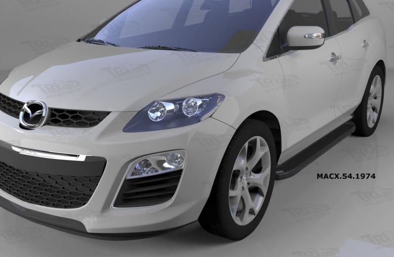 Пороги алюминиевые (Sapphire Black) Mazda (Мазда) CX7 (2011-), MACX541974