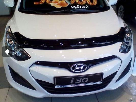 Дефлектор капота Hyundai i30 (2012-) (темный), SHYI301212