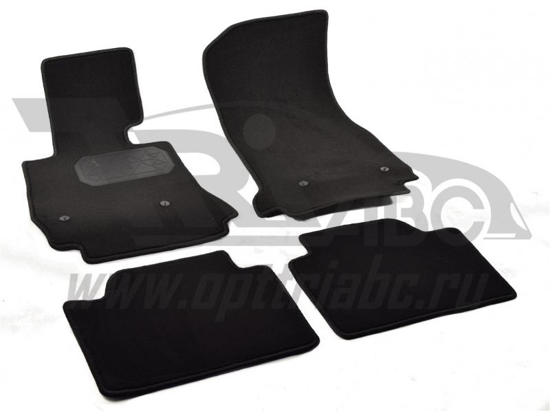 Коврики салона текстильный BMW 3 (F30) (2012-)(Велюр, полиамид)(подпятник п/у)(черные), NPA00VTE0704