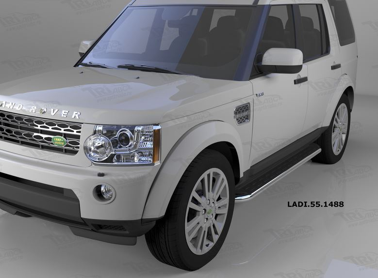 Пороги алюминиевые (Ring) Land Rover Discovery 4 (2010-)/ Discovery 3 (2008-2010), LADI551488