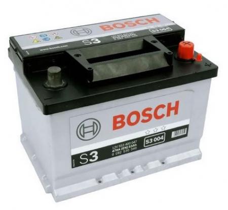 Аккумуляторная батарея Bosch S3, 12 В, 53 А/ч, 470 А, 0092S30040