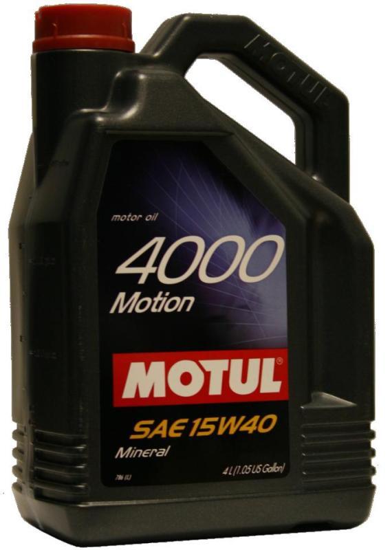Моторное масло MOTUL 4000 MOTION, 15W-40, 4л, 100294