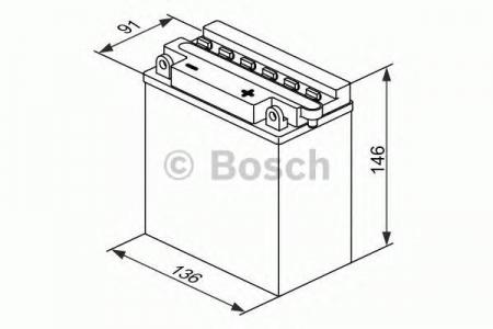 Аккумуляторная батарея Bosch Funstart FreshPack, 12 В, 11 А/ч, 90 А, 0092M4F290