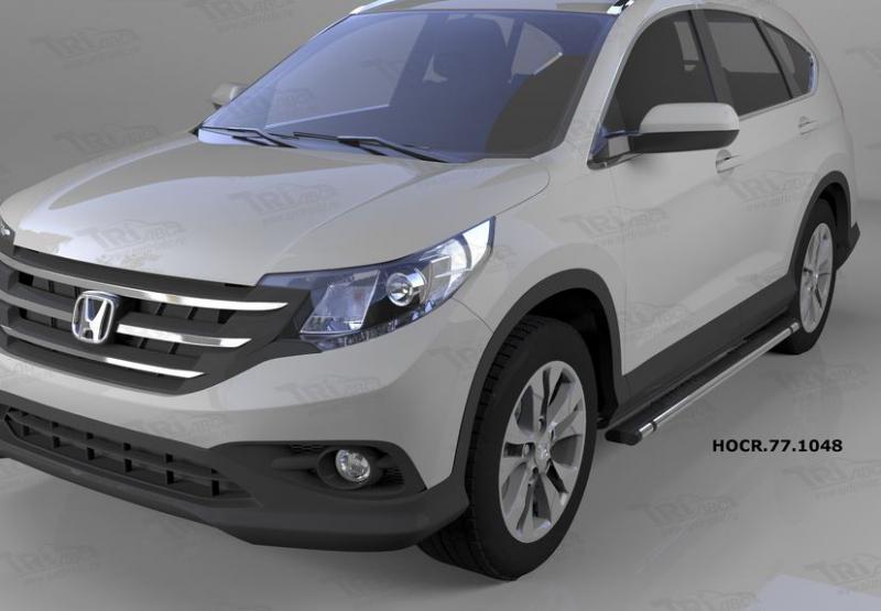 Пороги алюминиевые (Emerald Black) Honda (Хонда) CR-V (2012--2014 / 2015-), HOCR771048