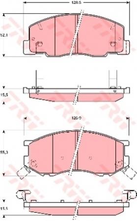 Колодки дисковые Передние, TRW, GDB3157