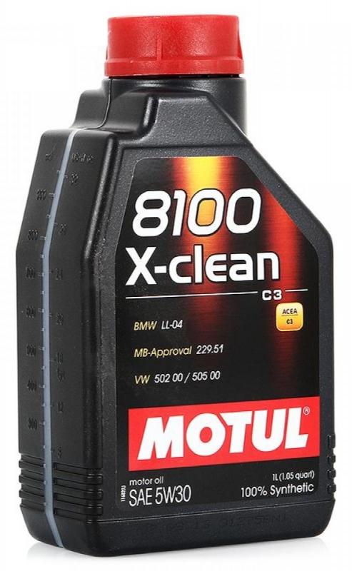 Моторное масло MOTUL 8100 X-CLEAN +, 5W-30, 1л, 106376