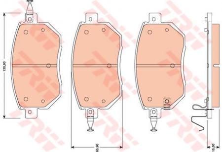 Колодки дисковые Передние, TRW, GDB3416