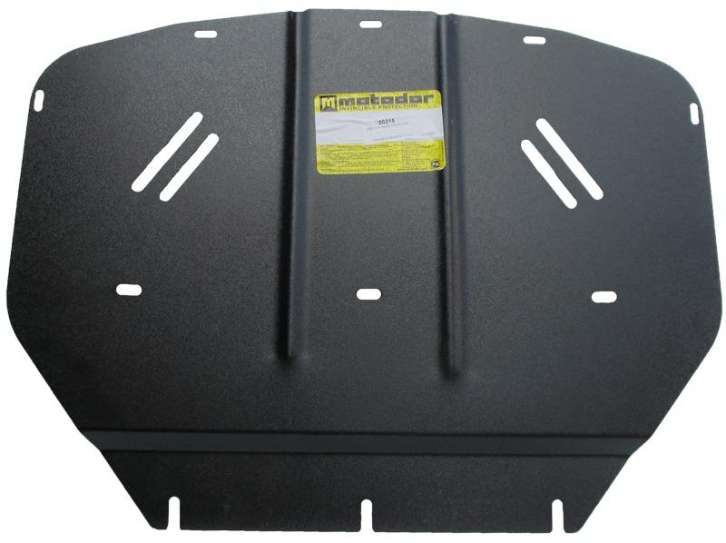Защита радиатора BMW 3-й серии кузов E46 (1998-2005) V=2,0, 2,5i (сталь 2 мм), MOTODOR00215