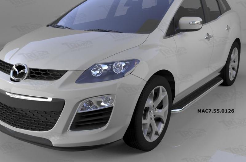 Пороги алюминиевые (Ring) Mazda (Мазда) CX7 (2011-), MAC7550126