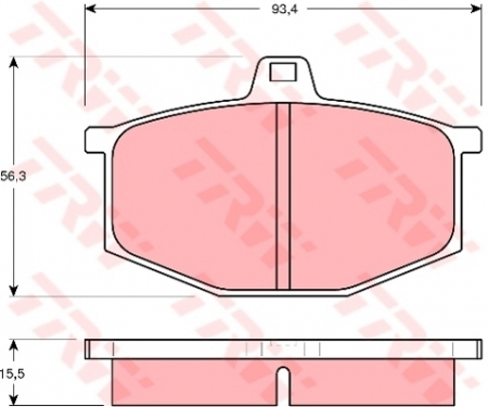 Колодки дисковые Передние, TRW, GDB405
