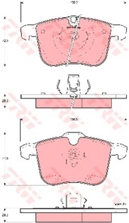 Колодки дисковые Передние, TRW, GDB1567
