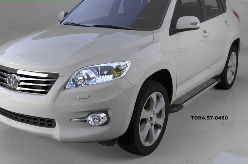 Пороги алюминиевые (Topaz) Toyota RAV4 (Тойота РАВ4) (короткая база) (2006-2013), TOR4570460