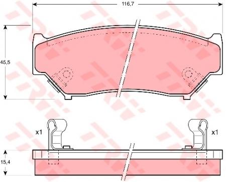 Колодки дисковые Передние, TRW, GDB1174