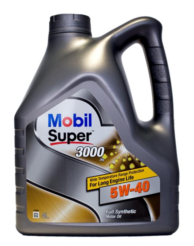 Моторное масло Mobil Super 3000 X1, 5W-40, 4л, 150013