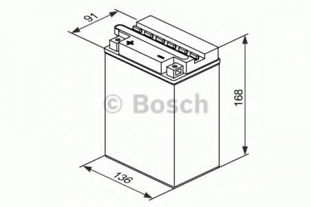 Аккумуляторная батарея Bosch Funstart FreshPack, 12 В, 14 А/ч, 140 А, 0092M4F350