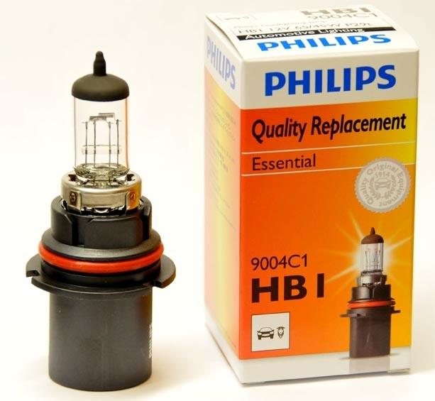 Лампа, 12 В, 65/45 Вт, HB1, P29t, PHILIPS, 9004C1
