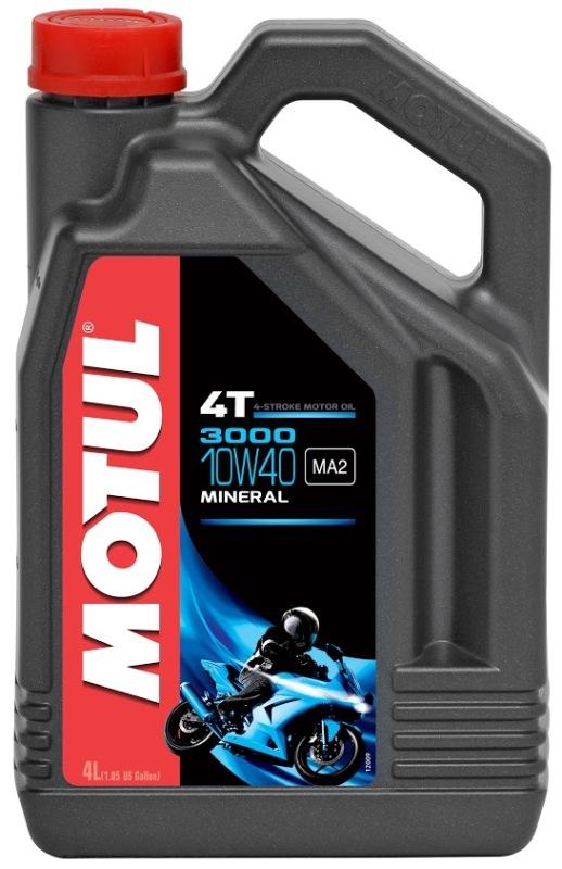 Моторное масло MOTUL 3000 4T, 10W-40, 4л, 104046