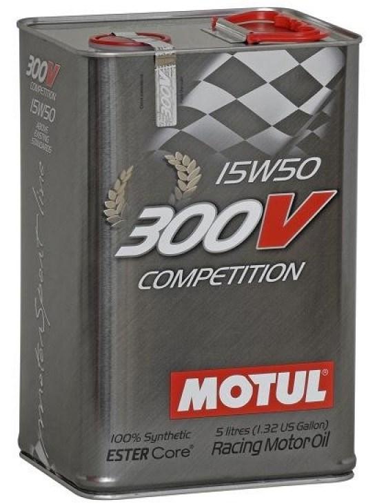Масло моторное MOTUL 300V COMPETITION, 15W-50, 5л, 103920