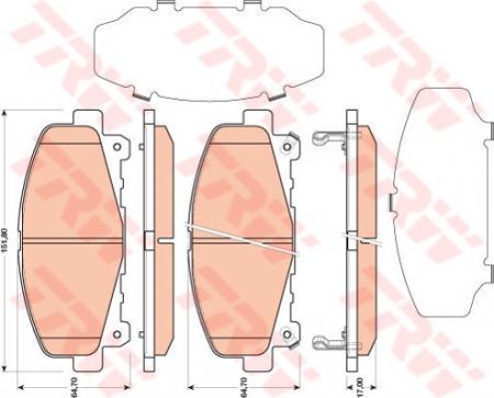 Колодки дисковые Передние, TRW, GDB3477