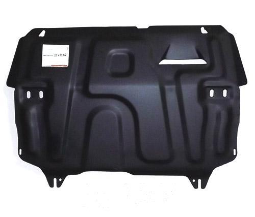 Защита картера двигателя и кпп Skoda Rapid(Шкода Рапид)V-все(2014-2016-)/VW Polo Sedan V-все(10-)шта