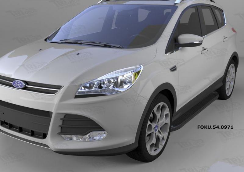 Пороги алюминиевые (Sapphire Black) Ford Kuga (2013-), FOKU540971