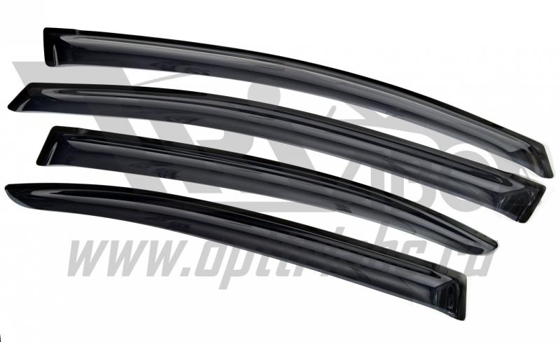 Дефлекторы боковых окон Honda (Хонда) Civic (Цивик) SD (2012-) (темный) (4части), SHOCIVS1232