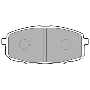 Колодки дисковые, DELPHI, LP1819