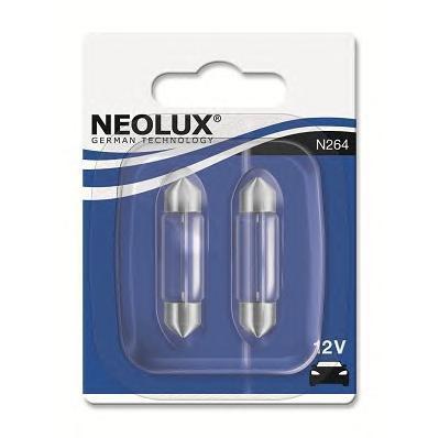 Лампа, 12 В, 10 Вт, SV8,5-8, NEOLUX, N264-02B