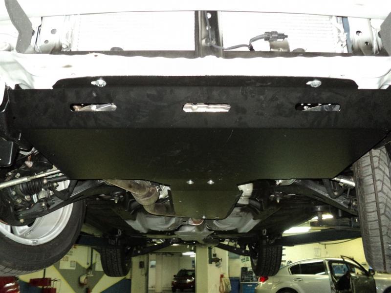 Защита КПП Subaru Forester V-все (2011-03/2013) (Алюминий 4 мм), 2205ABC