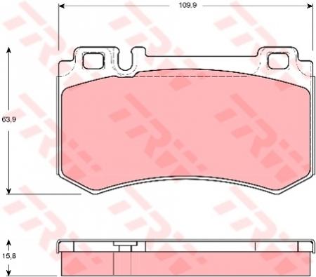 Колодки дисковые Задние, TRW, GDB1544