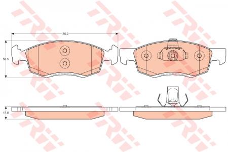 Колодки дисковые Передние, TRW, GDB1749