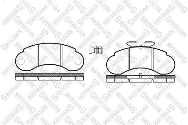 Колодки дисковые, STELLOX, 153020SX