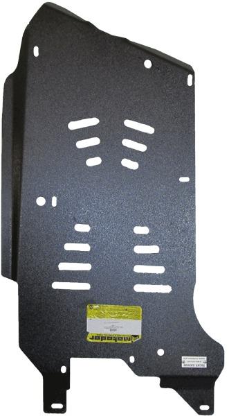 Защита картера КПП, РК BMW X1 кузов Е84 2009- все бензиновые (алюминий 5 мм), MOTODOR30208