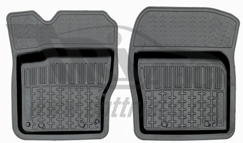 Коврики салона резиновые с бортиком для Mazda 3 (2013-) (2 передних), ADRAVG1612